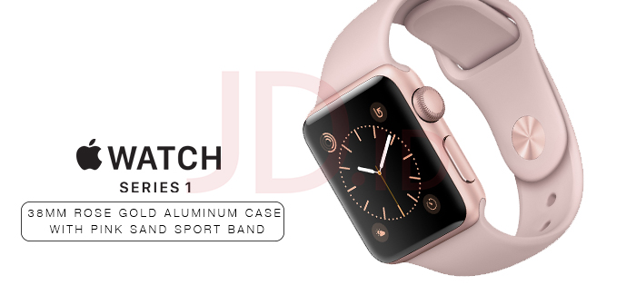 Jual Apple Watch Series 1 38mm Rose Gold Aluminum Case With Pink Sand Sport Band M2 Store Sm