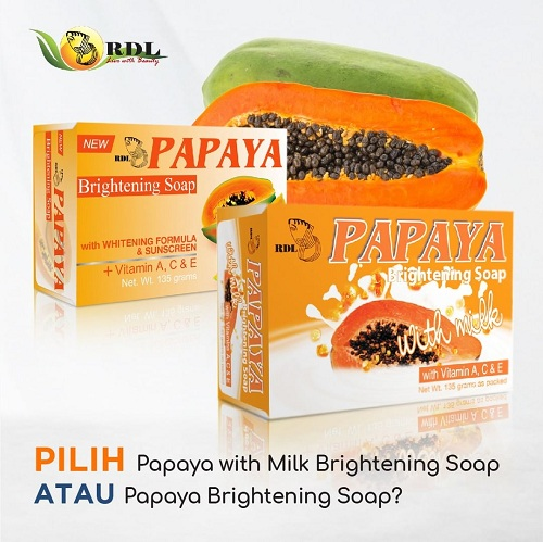 Jual Sabun Papaya Rdl Brightening Soap Sabun Pepaya 90gr Radysa Beauty