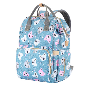 Diaper Bag Light Green Multi Function Backpack Travel Backpack Baby Nappy Changing Mommy Bags
