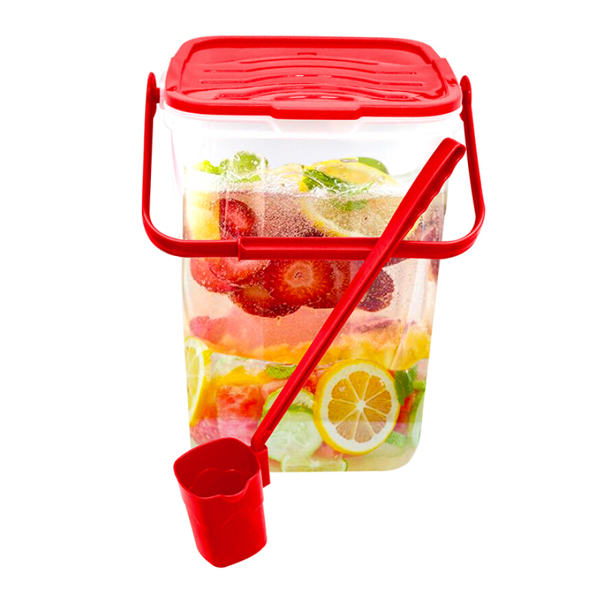 LUCKY BIRD Summer Water Container With Dipper 30lt (L-8030) - Red Lid JD.id