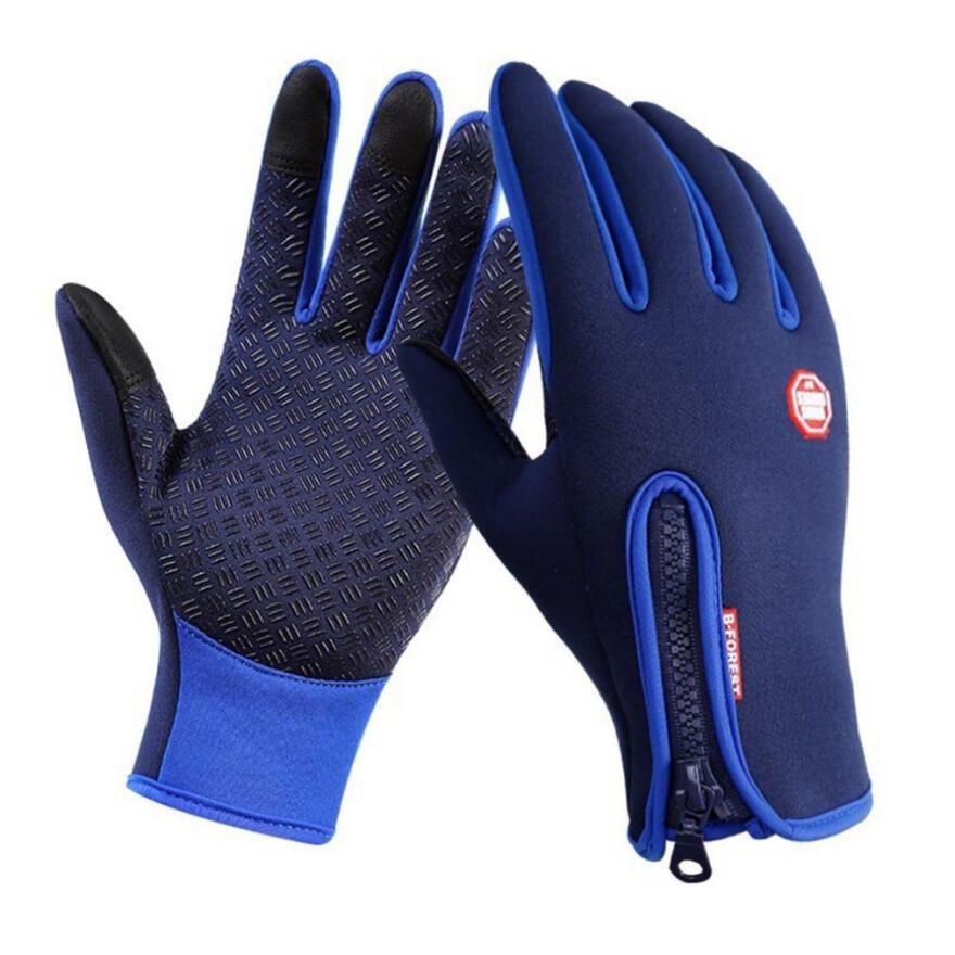 Farfi Winter Touch Screen Motorcycle Fishing Outdoor Sports Mittens Skiing Gloves Blue S SportLife