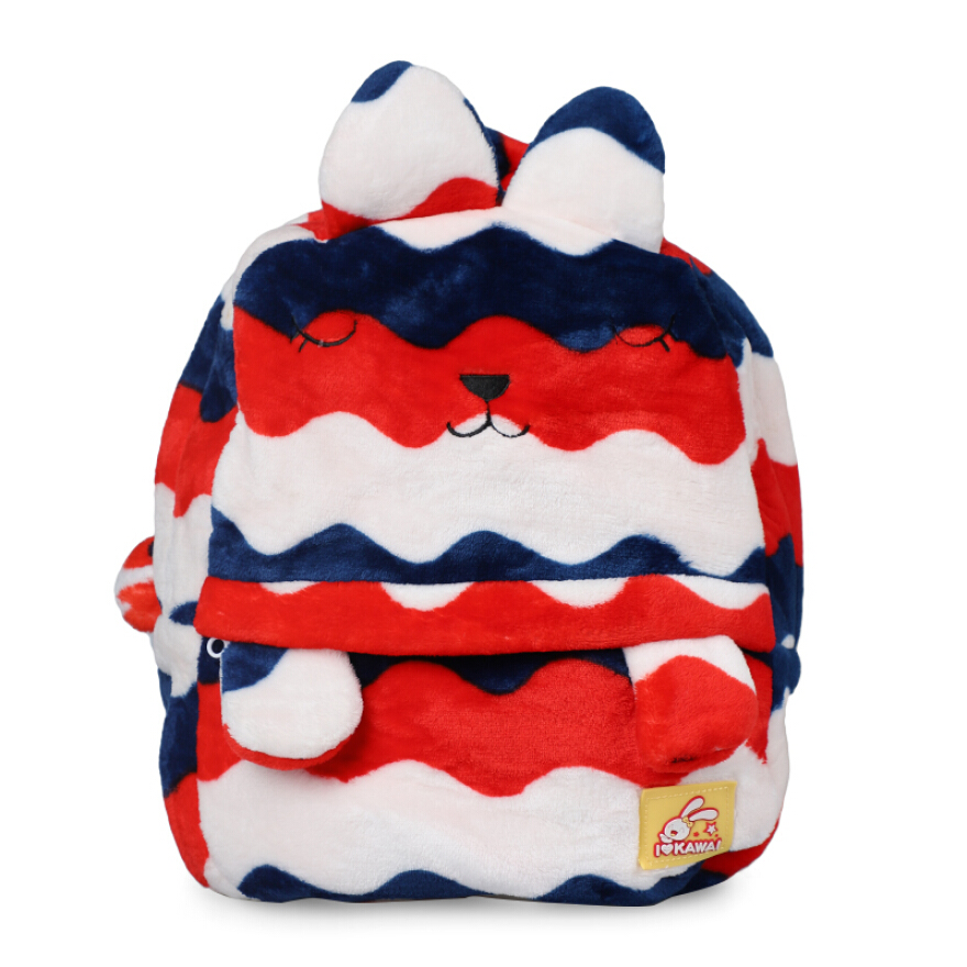 STYLETOTS Fur Backpack A6 - Red /Blue JD.id